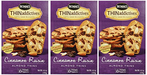 Nonni's Thin Addictives Cinnamon Raisin Almond Thins 6 pkgs ( 3 ()