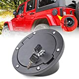 JeCar Fuel Door Cover Locking Gas Cap Cover for 2007-2018 Jeep Wrangler JK & Unlimited