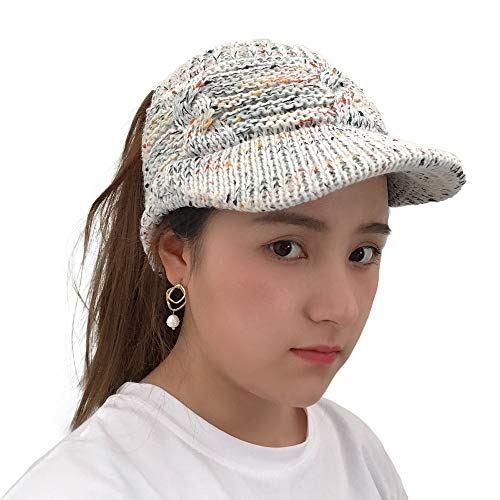 Byyong Women Twist Peaked Cap Knit Wool Hat Hollow Out Multicolor Point Caps