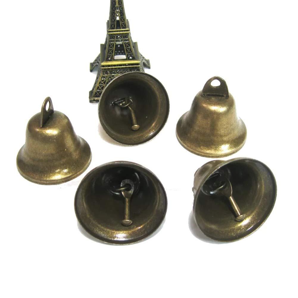 ecc. Frgasgds ciondoli per fare campane a vento per addestramento al vasino del cane Piccole campanelle vintage in bronzo campanelli natalizi per addestramento del cane 38 mm confezione da 50