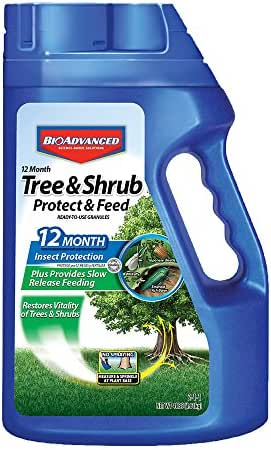Bayer Advanced 701900 12 Month Tree and Shrub Protect and Feed Granules, 4-Pound (NY Formula)