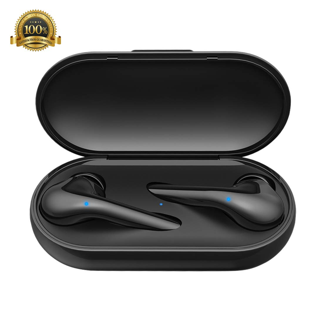 LucBuy True Wireless Earbuds, TWS Bluetooth 5.0 Earphone Stereo Built-in Mic with Charging Case,Touch Switch,Auto Power-on,in-Ear Noise Cancelling Mini Sports Headphones, Waterproof Headsets