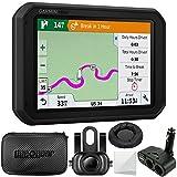 Garmin dezl 780 LMT-S 7' GPS Truck Navigator (010-01855-00) + Garmin BC 35 Wireless Backup Camera + Hard EVA Case with Zipper, 7-inch + GPS Navigation Dash-Mount + More