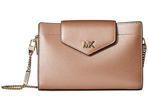 (MICHAEL Michael Kors Medium Convertible Flap Metallic Cross-Body Clutch)