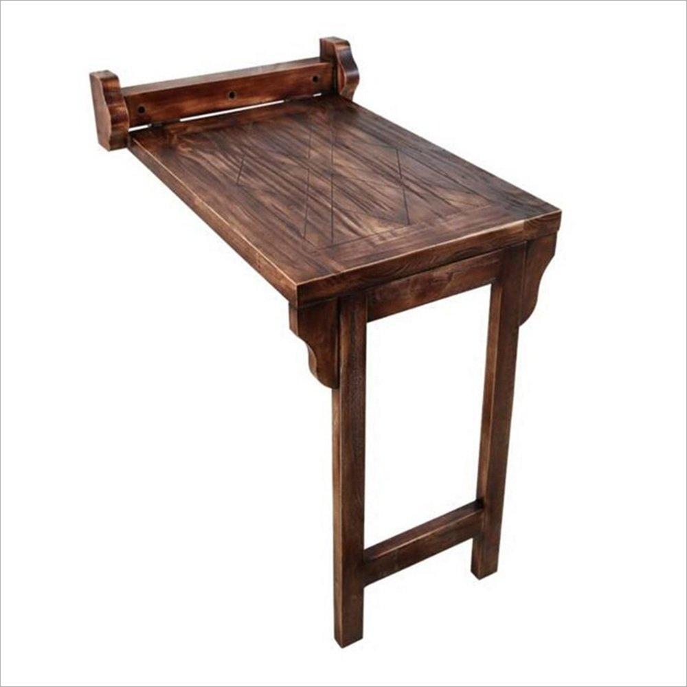 NAN ソリッドウッドの壁のテーブルバルコニーのための折り畳み式ダイニングテーブル小さなアパート B07DZDF1T6