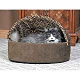 K&H Pet Products Thermo-Kitty Heated Pet Bed Deluxe Large Mocha/Leopard 20