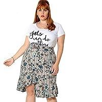 T-shirt Girls Can Do Anything Bordada Plus Size