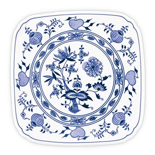 - Blue Onion Traditional Czech Porcelain Decor Plate   European Design Tableware   Handmade   Size 8.3
