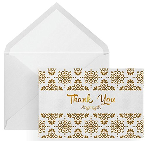 100 Thank You Cards, Envelopes, and Envelope Seal Stickers – Grate Cards Company by GrateCards