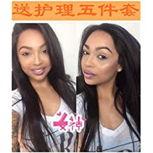 The entire top human hair wig realistic full head whole crochet women girls female short hair long hair mother Straight outer horsetail sales