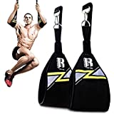 RIMSports Ab Straps for Pull Up Bar for Ab Workouts Premium Pull Up Straps & Hanging Ab Straps for Core Workouts Hanging…