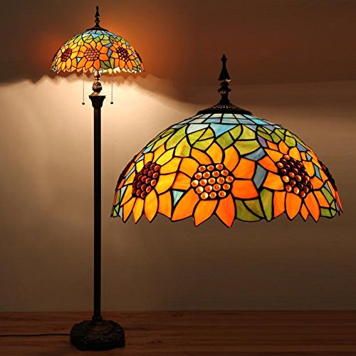 Edward Tiffany 16-inch European pastoral creative bedroom living room sunflower floor lamps