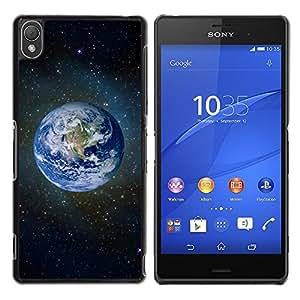 TECHCASE**Cubierta de la caja de protección la piel dura para el ** Sony Xperia Z3 D6603 / D6633 / D6643 / D6653 / D6616 ** Planet Earth Blue Space Stars Universe Cosmos