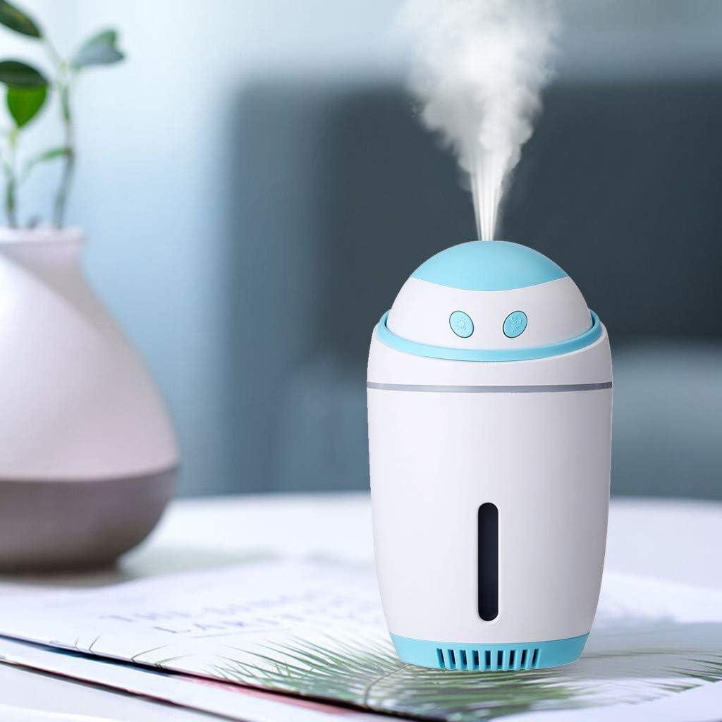 Mini humidificador USB con luz nocturna LED, difusor, purificador de aire, Azul: Amazon.es: Bricolaje y herramientas