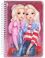 Depesche 10482 Notitieboek met vloeibare en glitter, TopModel Friends, circa 17 x 12,5 x 1,5 cm, gesorteerd, kleurrijk
