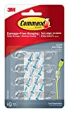 Command Cord Clips, Small, Clear, 8-Clip, 4-Pack