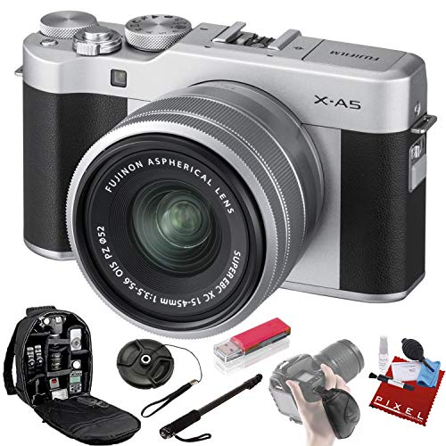 FUJIFILM X-A5 Mirrorless Digital Camera with 15-45mm Lens (Silver) + Pro Accessories Bundle