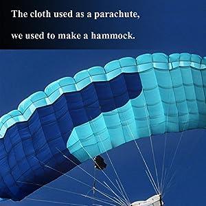 "Zenph Camping Hammock - Lightweight Nylon Portable Single Hammock, Best Parachute Hammock for Backpacking, Camping, Travel, Beach, Yard. 106""(L) x 55""(W)"