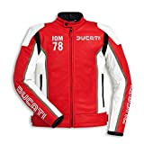 Ducati IOM78 Non-Perforated Leather Jacket - Red