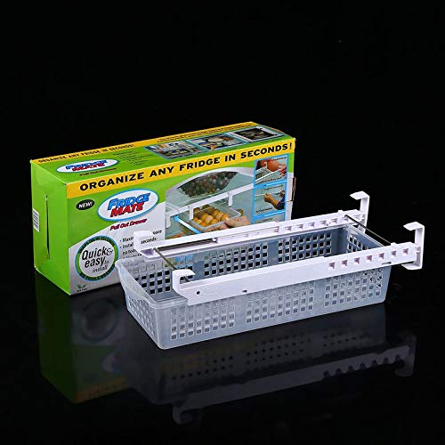 Surobayuusaku Adjustable and Stretchable Fridge Organizer Fresh Spacer Layer Storage Rack Drawer Basket Refrigerator Pull-out Drawers