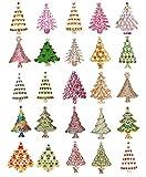 Faship Wholesale Lot Bulk Gorgeous 25 Pcs Christmas Tree Pin Brooch Assortment