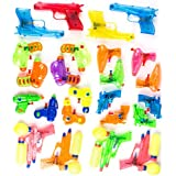 Neliblu Squirt Guns Party Favors - Bulk Party Pack Water Squirting Guns (Pack of 24) Assorted Most Popular Water Squirt Guns Party Favors Goody Bag Fillers Stocking Stuffers