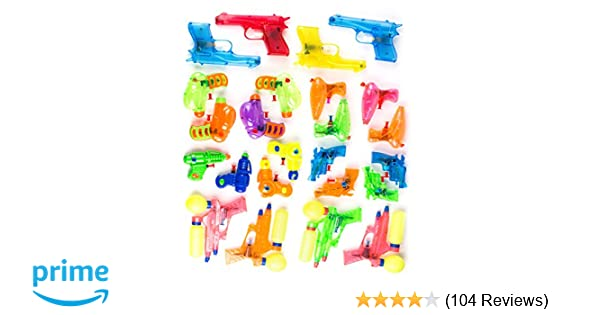 327a02b216 Neliblu Squirt Guns Party Favors - Bulk Party Pack Water Squirting Guns  (Pack of 24) Assorted Most Popular Water Squirt Guns Party Favors Goody Bag  Fillers ...