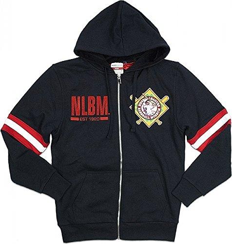 Negro League Baseball Jackets - Cultural Exchange Negro League Baseball Commemorative Mens Zip-Up Hoodie Jacket [Black - 2XL]
