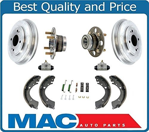 - New Rear Drums Shoes Springs Wheel Cylinders Hub Bearings Fits For Honda Civic 01-05