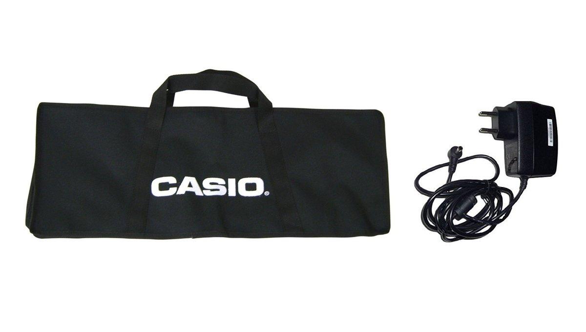 Casio - Bolsa y alimentador originales para teclados de las series ...