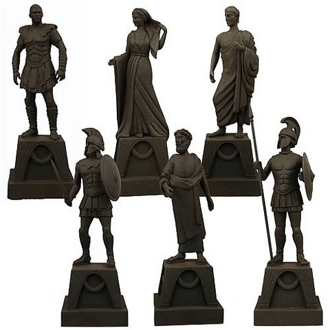 NECA Clash of the Titans 2010 Movie Set of 6 Prop Replica 7 Inch Figurines (Clash Of The Titans Perseus)