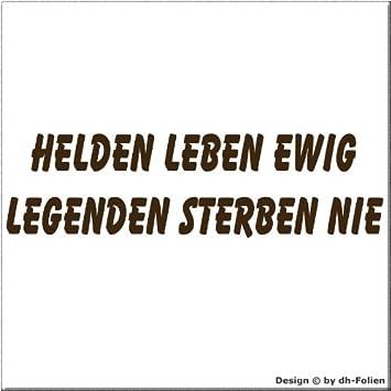 Cartattoo4you Ak 01261 Helden Leben Ewig Legenden Sterben
