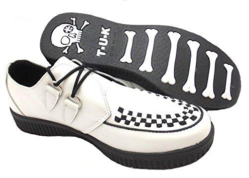 Quality Ladies Creepers High Tuk Shoes u Viva Fashion White Unisex k Leather T Soft A8489 qnBO6na