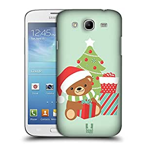 Head Case Designs Bear Jolly Christmas Toons Protective Snap-on Hard Back Case Cover for Samsung Galaxy Mega 5.8 I9150 I9152