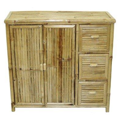 Bamboo Storage Shelf with 3 Drawers