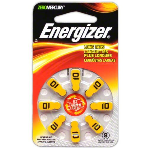 - 48 Energizer EZ Turn & Lock Hearing Aid Batteries Size: 10