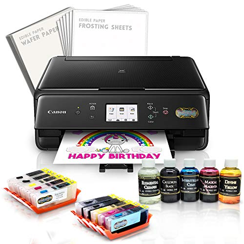 (Edible Canon LCD Printer Bundle Master Package Wafer + Frost Sheet Ink Cartridge/Cleaner Cartridge + Refills)