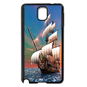 Samsung Galaxy Note3 N9000 Phone Case The Sea Ship Sailer Sailing Boat Protective Cell Phone Cases Cover TTR128667