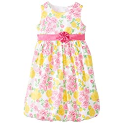 Younghearts Little Girls' Dress With Flowers and Rosette