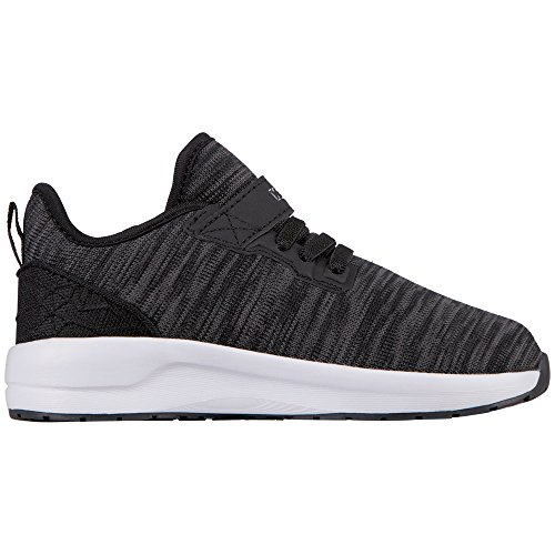 Kappa Paras ML Kids, Zapatillas Unisex Niños Schwarz (1110 White/Black)