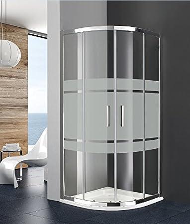Mampara de ducha 1/4 de Círculo Prestige Titan acceso de cara (dos paneles coulissants y dos paneles fixes. vidrio transparente o serigrafía de 8 mm: Amazon.es: Bricolaje y herramientas