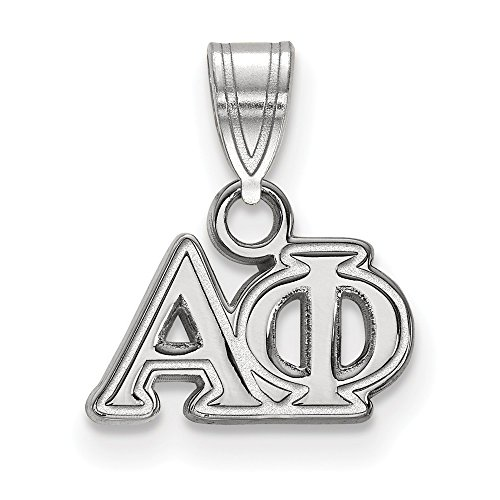 925 Sterling Silver Officially Licensed Alpha Phi Small Pendant (13 mm x 12 mm)