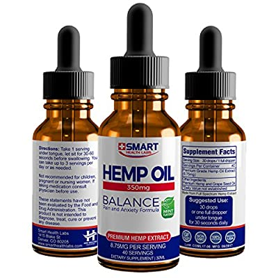 SHL's Hemp Oil 350 - Active Blended Hemp Extract - Pain and Anxiety Formulation