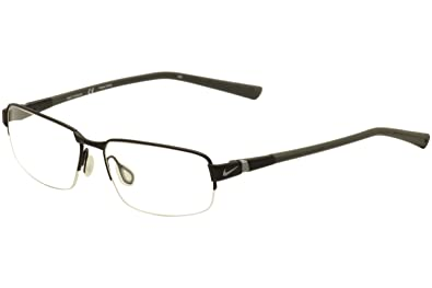 f752949001d Amazon.com  NIKE Eyeglasses 6051 009 Satin Black 54MM  Shoes