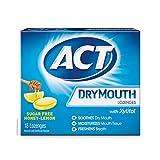ACT Dry Mouth Lozenges, Honey-Lemon, 18 Count