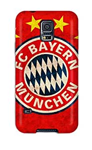 Ultra Slim Fit Hard Andters Case Cover Specially Made For Galaxy S5- Bayern Munchen Fc Logo