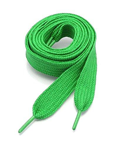 Ti Lace Fashion Flat Shoelaces 54 Inch Canvas Sneaker Athletic Tennis Shoe Laces Unisex Strings - 39 Colors (Shamrock Green)
