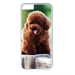 Hard Back Cover Case for iphone 6,Cool Fashion Art White PC Shell Skin for iphone 6 with Cute Dog