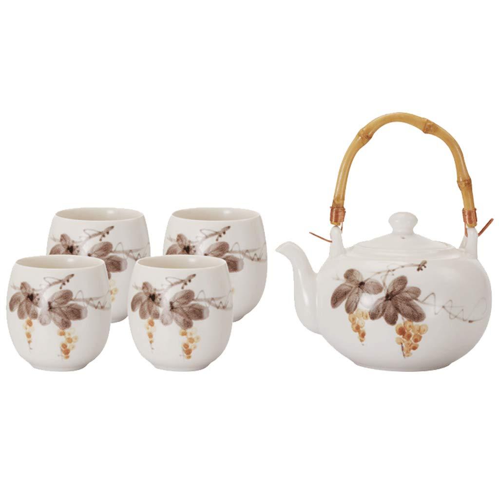 CSQ Coffee Cup Simple Tea Set, Party Wedding Tea Set Ceramic Teapot Household Study Teapot Afternoon Tea (Color : A)