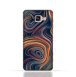 Samsung Galaxy A7 2016 / A710F TPU Silicone Case With Abstract Swivled Stripes Pattern Design.